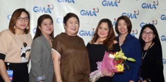 ETV Program Managers Cecille de Guzman, Enri Calaycay, SVP for ETV Lilybeth G. Rasonable, Manilyn Reynes, Senior Program Manager Bang Arespacochaga, SAVP for ETV Janine Piad-Nacar