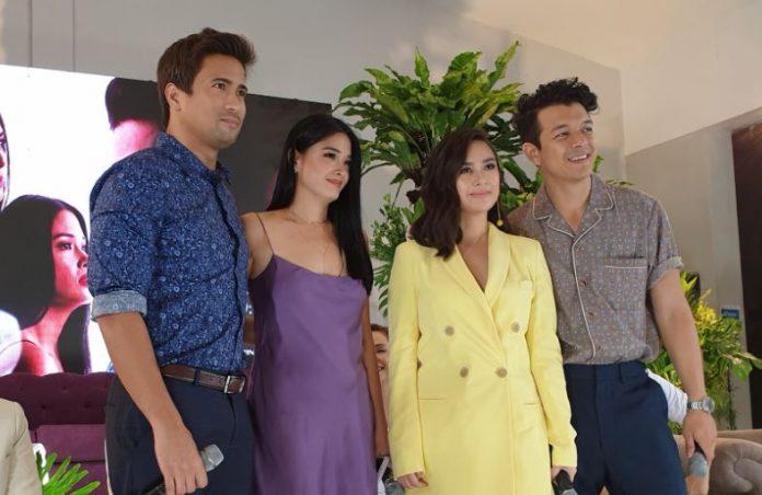 "(L-R)-- The lead stars of the series ""Halik"", Sam Milby, Yam Concepcion, Yen Santos, and Jericho Rosales"
