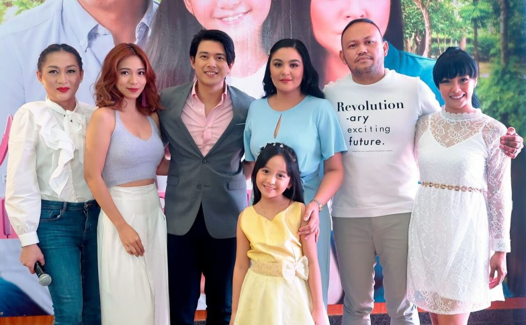 The cast of Wagas' Throwback Pag-Ibig with Direk Adolf Alix, Jr.