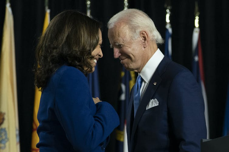 Joe Biden and Kamala Harris | AAP/AP/Carolyn Kaster